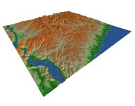 Virtual Ossining - Rendered Digital Elevation Model, GIS